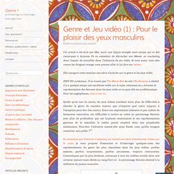 Genre et Jeu vidéo (1) : Pour le plaisir des yeux masculins