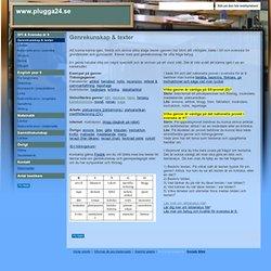 Genrekunskap & texter - www.plugga24.se