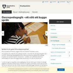 Genrepedagogik - ett sätt att bygga språk