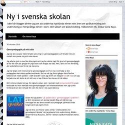 Ny i svenska skolan: Genrepedagogik på mitt sätt