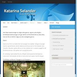 Genrer - Katarina Selander