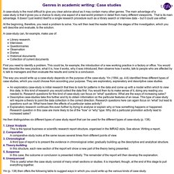 Genres in Academic Writing: Case Study