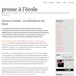 Genres et médias : une Semaine et une étude