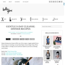 Gentle 3-Day Cleanse: Dinner Recipes