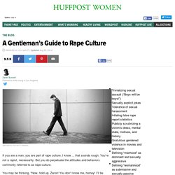 A Gentleman's Guide to Rape Culture