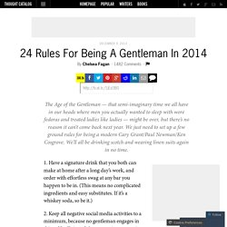 24 Rules For Being A Gentleman In 2014
