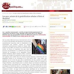 Les gays, acteurs de la gentrification urbaine à Paris et Montréal