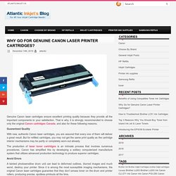 Why Go for Genuine Canon Laser Printer Cartridges?