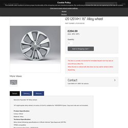 "Genuine Hyundai i20 (2014+) 16"" Alloy wheel"