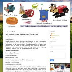Buy Genuine Power Sprayer at Affordable Price