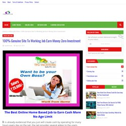 100% Genuine Site To Working Job Earn Money Zero Investment