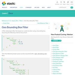Geo Bounding Box Filter