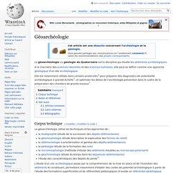 Géoarchéologie