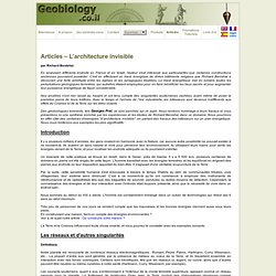Géobiologie - Articles – L'architecture invisible