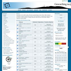 Geocaching jižní Čechy - Novinky