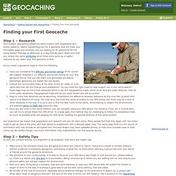 Getting Started with Geocaching > Finding your First Geocache