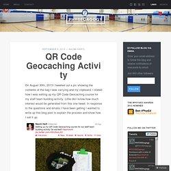 QR Code Geocaching Activity