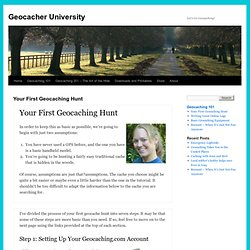 Your First Geocaching Hunt | Geocacher University - Minefield
