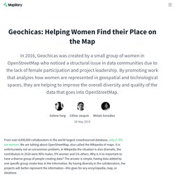 Geochicas: Helping Women Find their Place on the Map - The Mapillary Blog