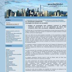 geoclioclaudel » Blog Archive » La chrétienté médiévale (exemple de devoir en seconde)