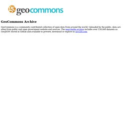 GeoCommons Maker!