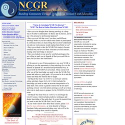 NCGR - National Council for Geocosmic Research - Astrology, Education, Research