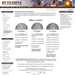 Geodesic Dome Calculator