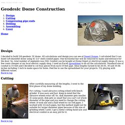 Geodesic Dome Construction