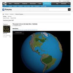 Geodesic globe WIP