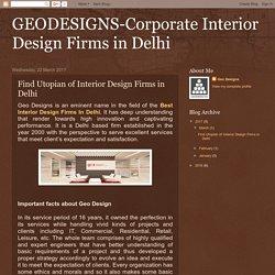 Find Utopian of Interior Design Firms in Delhi