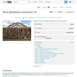 Dôme Géodésique Icosahedron V4 - Wikifab