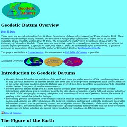 Geodetic Datum Overview
