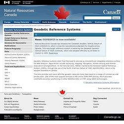 Système canadien de référence spatiale - Calcul inverse géodésique Démonstration en ligne