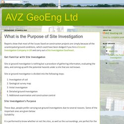 What is the Purpose of Site Investigation