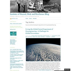 Institute of Hazard, Risk and Resilience Blog