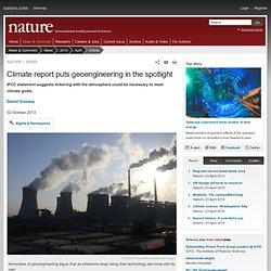 Climate report puts geoengineering in the spotlight