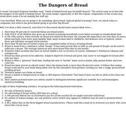 The Dangers of Bread
