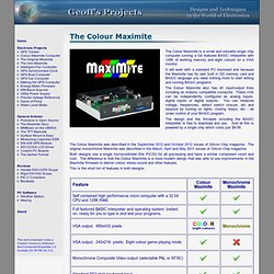 Geoff's Projects - The Colour Maximite