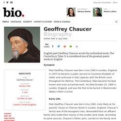Geoffrey Chaucer - Author, Poet