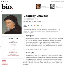 Geoffrey Chaucer - Author, Poet - Biography.com