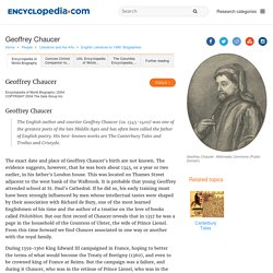 Geoffrey Chaucer Facts, information, pictures