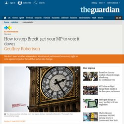How to stop Brexit: get your MP to vote it down