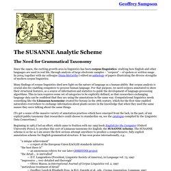 Geoffrey Sampson: SUSANNE Scheme - Parsed Corpus