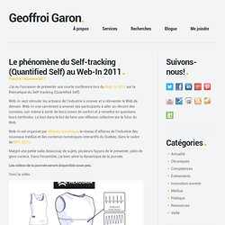 Le phénomène du Self-tracking (Quantified Self) au Web-In 2011