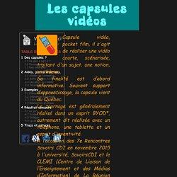 Site du CDI des lycées Lislet Geoffroy et Leconte de Lisle - île de la Réunion : Réaliser des capsules vidéo