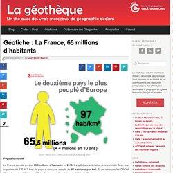 Géofiche : La France, 65 millions d'habitants