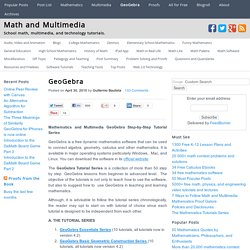 GeoGebra « Mathematics and Multimedia