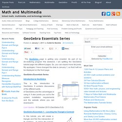 GeoGebra Essentials Series