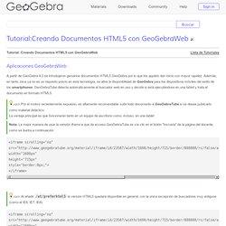 Tutorial:Creando Documentos HTML5 con GeoGebraWeb