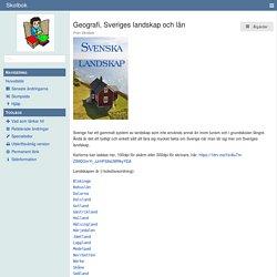 Geografi, Sveriges landskap och län